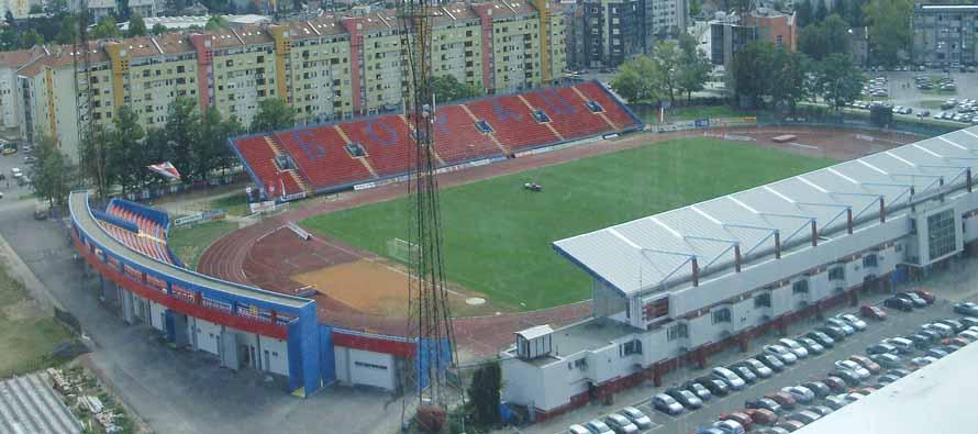 Aerial view of GradskI Stadion