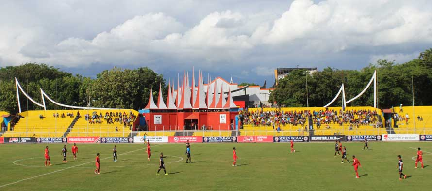 Main stand of Haji Agus Salim Stadium