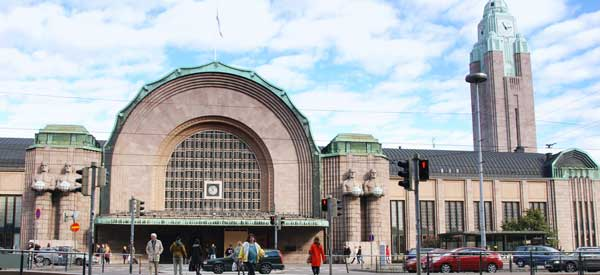 Exterior of Helsinki railway station