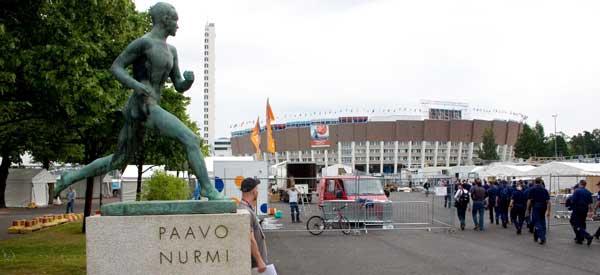 Helsinki Stadium main entrance