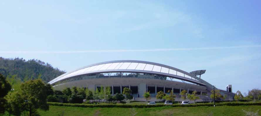 Exterior of Hiroshima Big Arch Stadium