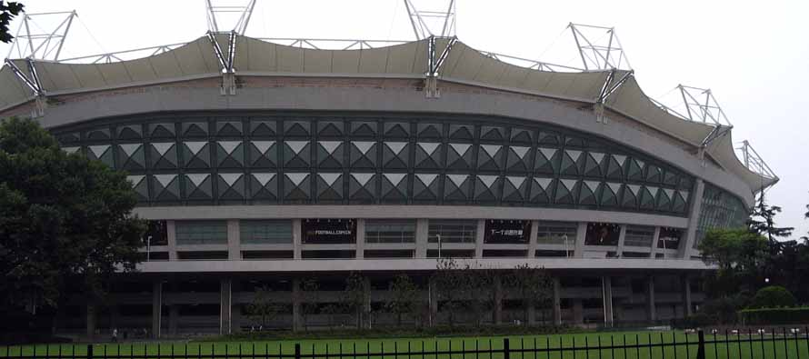 Exterior of Hongkou Stadium Shanghai