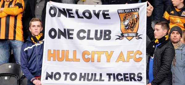 Hull CIty supporters inside the stadium