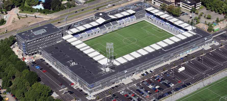 Aerial view of Ljsseldelta Stadion