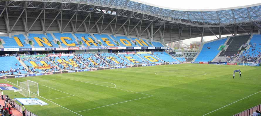 The pitch at Incheon Football Stadium