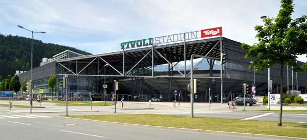 Exterior of Innsbruck Tivoli Stadium