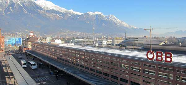 Majestic view of Innsbruck Station