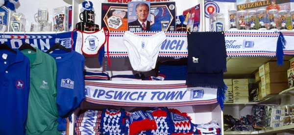 Interior of Ipswich Club Shop