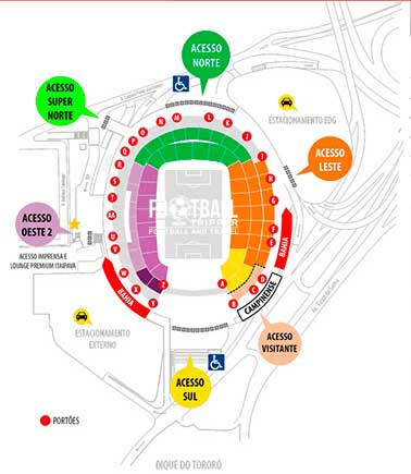 Seating chart for Itaipava Arena Fonte Nova