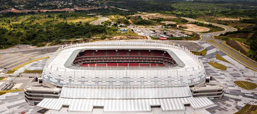 aerial view of itaipava arena pernambuco