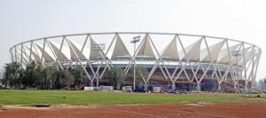 Exterior of Jawaharlal Nehru Stadium