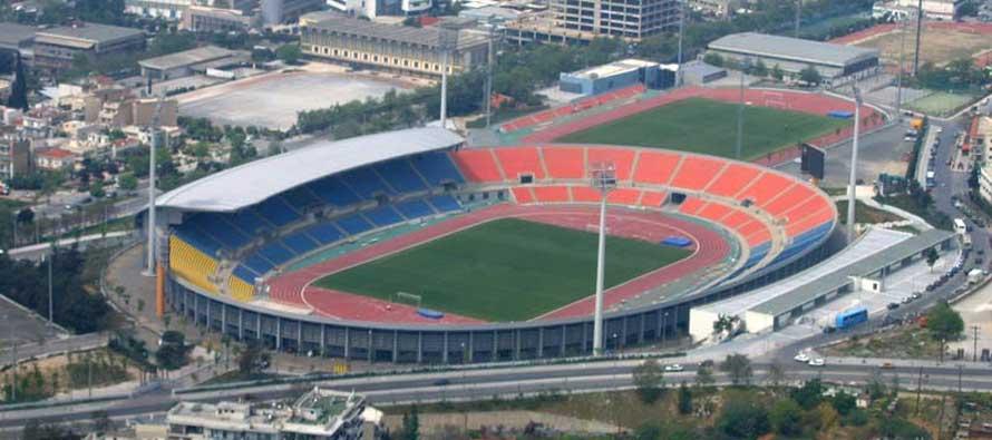 Aerial view of Kaftantzoglio Stadium