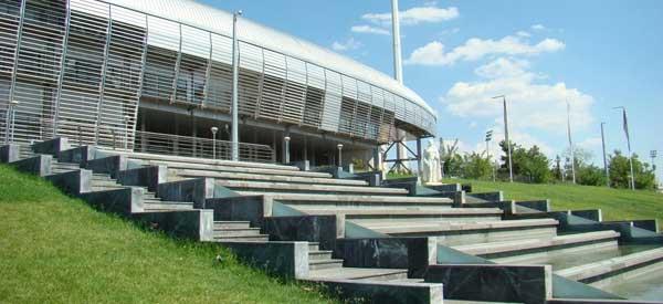 Exterior of Kaftanzoglio Stadium