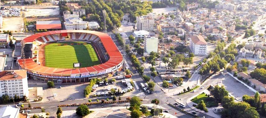 Aerial view of Kamil Ocak Stadium
