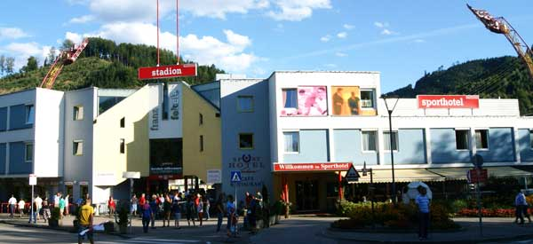 Exterior of Kapfenberg stadion