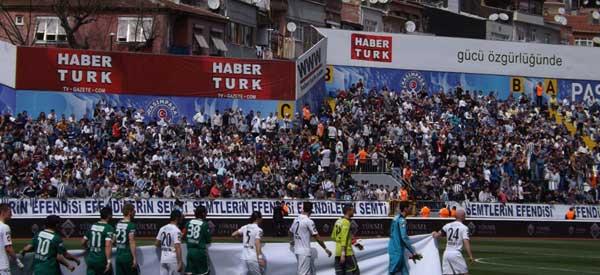 Kasimpasaspor fans inside the stadium