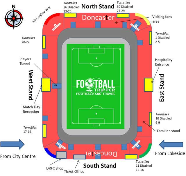 Keepmoat Stadium Seating Plan