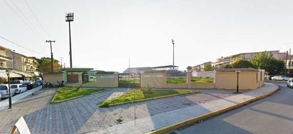Kerkyra Stadium in the distance