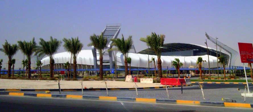 Exterior of Lekhwiya SC Stadium