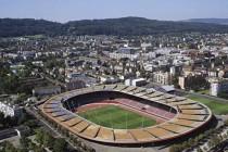 aerial view of Letzigrund arena