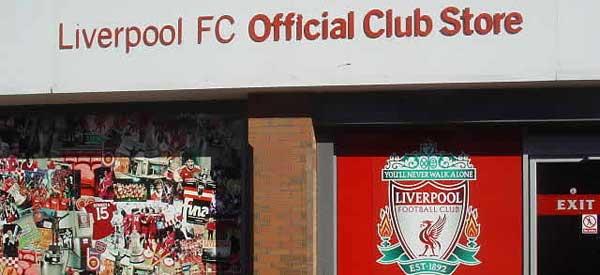 The exterior of Liverpools club shop
