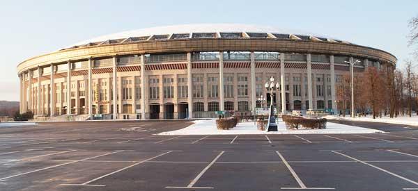 Exterior of Luzhniki Stadium