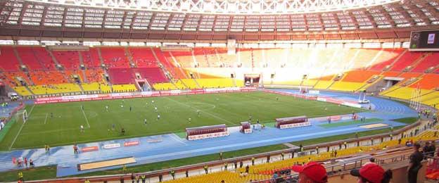 Inside Luzhniki stadium