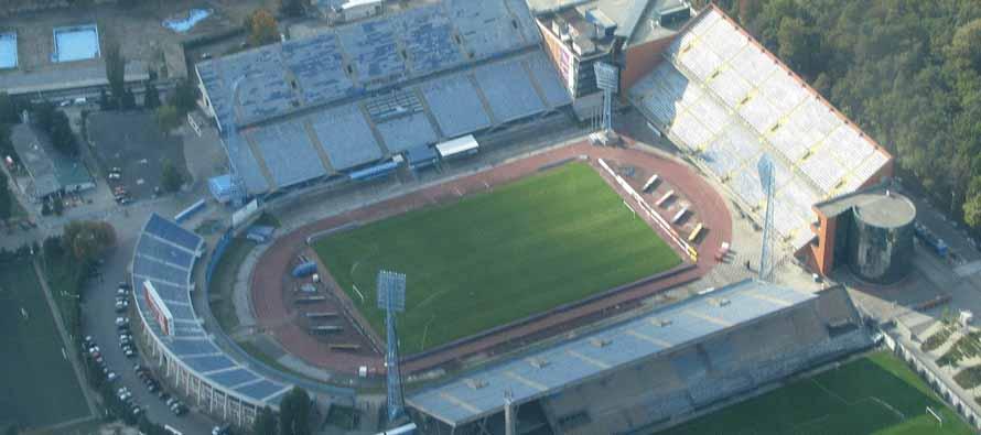 Aerial view of Maksimirski Stadion Zagreb