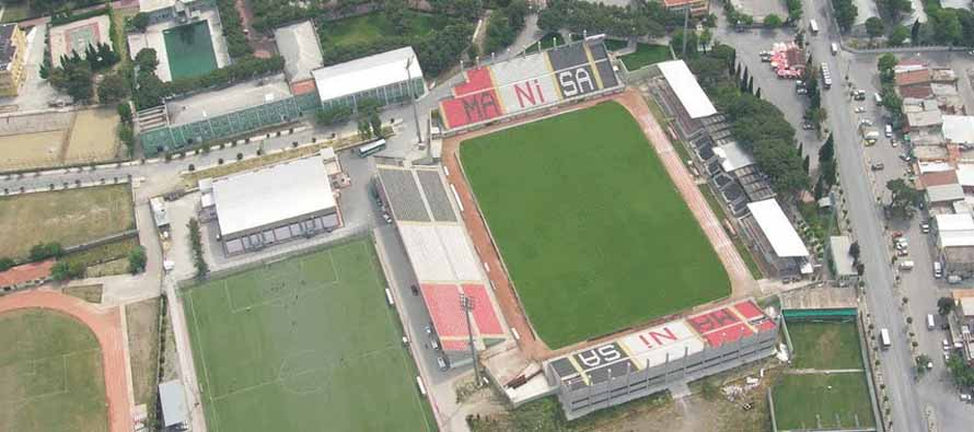 Aerial view of Manisa 19 Mayis Stadium