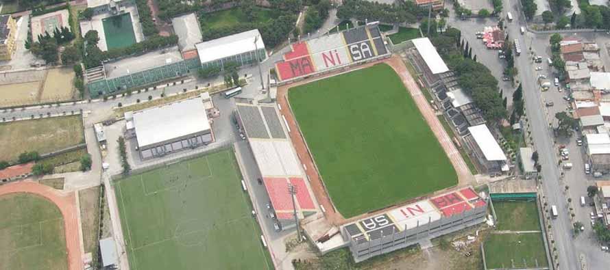 Aerial view of Manisa 19 Mayis Stadium