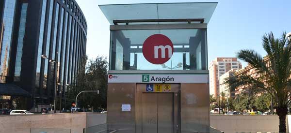 Aragon Metro Station Exterior