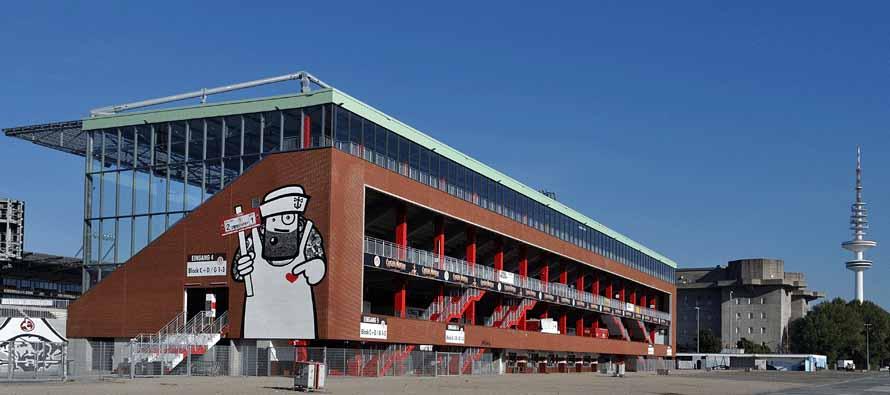 exterior of millerntor stadion