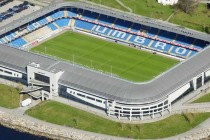 Aerial view of Aker Stadion