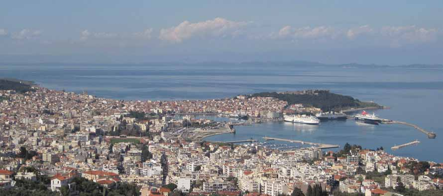 Aerial view of Mytilene Stadium