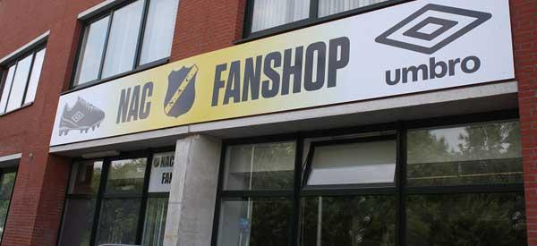 Exterior of NAC Breda club shop