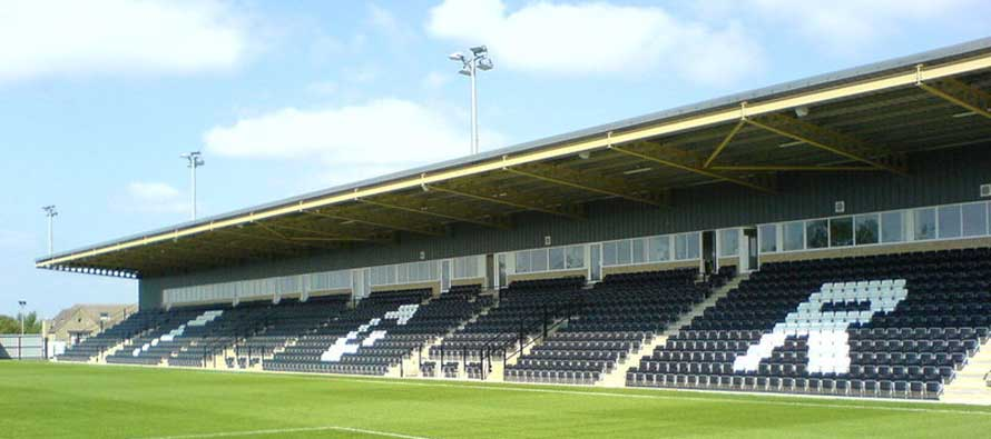 Main stand of New Lawn Stadium