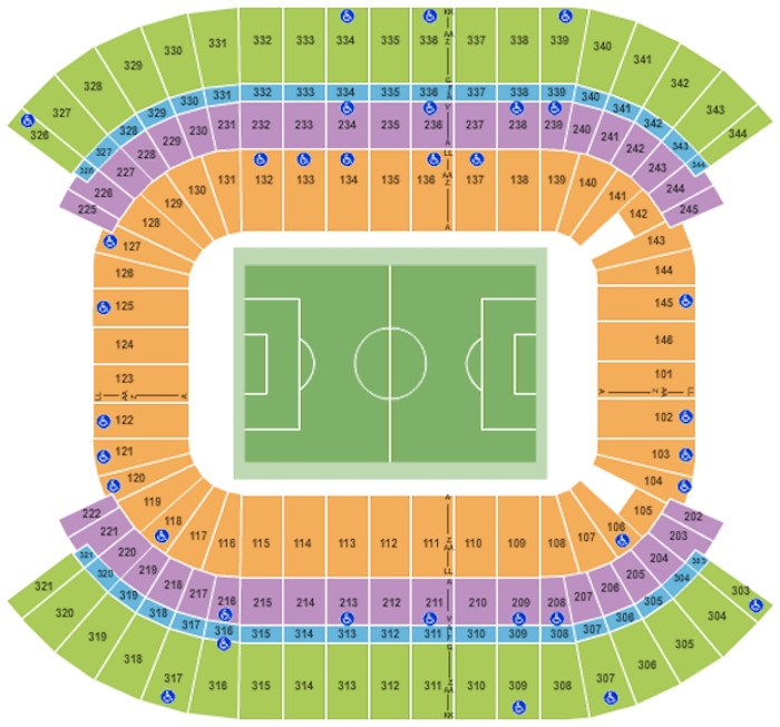 Nissan Stadium Seating Plan