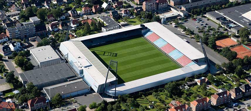 Aerial view of Nordjyske Stadion