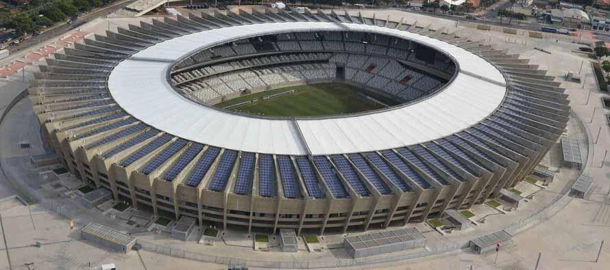 Aerial view of Novo Mineirão Stadium