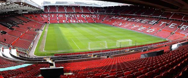 Iconic Old Trafford whilst empty