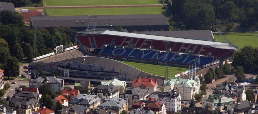 Aerial view of Olympia Helsingborg