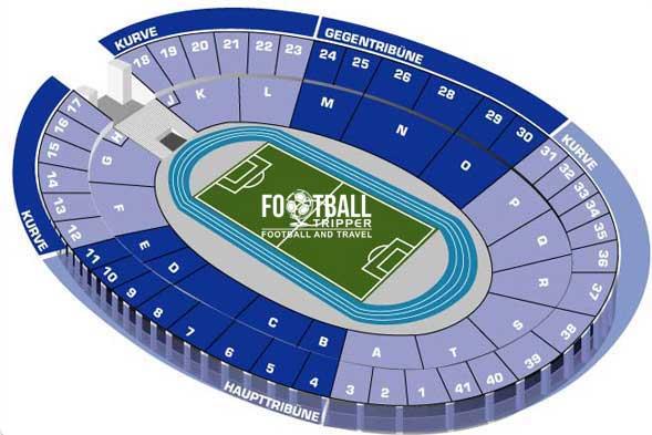 Olympiastadion Berlina Seating Plan