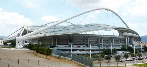 Exterior roof of Olympic Stadium Athens