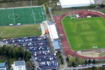 Aerial view of Op Flohr Stadion