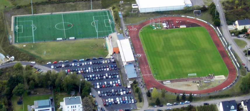 Aerial view of Op Flohr Stadion