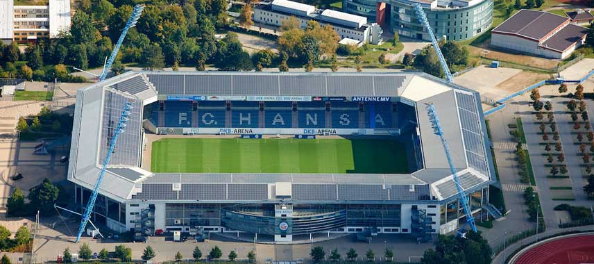 Aerial view of Ostseestadion