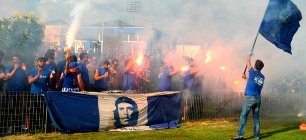 PAS Giannina supporters inside the stadium