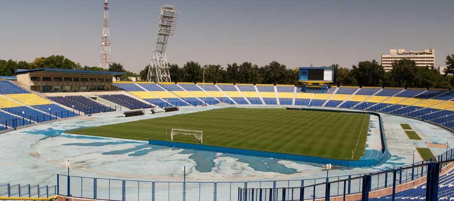 Inside Pakhtakor Markaziy Stadium
