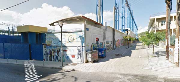 Outside Panetolikos Stadium