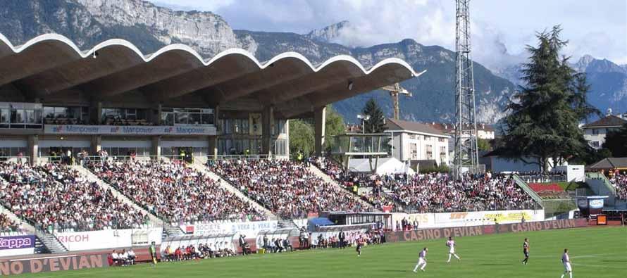 Inside Parc Des Sports mountain view